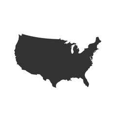 usa map on blank background vector image