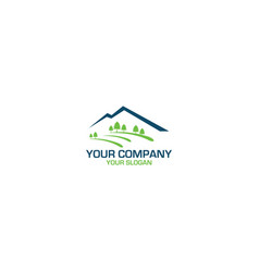 Valley pine street logo design vector