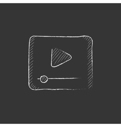 Video player Drawn in chalk icon vector image