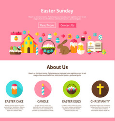 web design easter sunday vector image vector image
