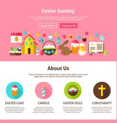 web design easter sunday vector image