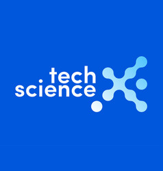 x letter logo science technology vector image