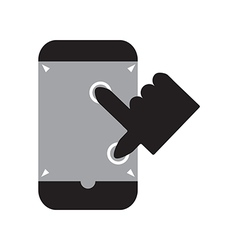 Zoom out smart phone vector image vector image