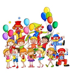 Children and party vector image