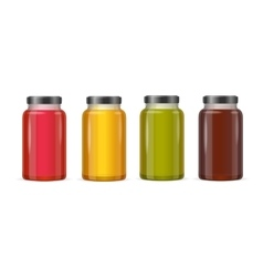Jar Glass with Jam or Juice vector image