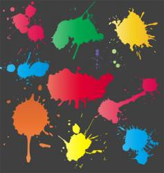 set of splashes vector image vector image