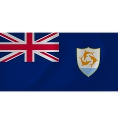 Anguilla waving flag vector image