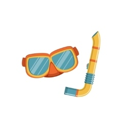Diving Mask And Snorkel vector image vector image
