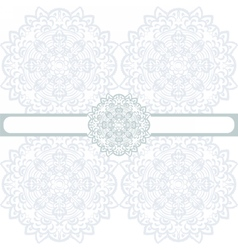 Floral round border ornament vector