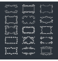 Hand-drawn elements vector image vector image
