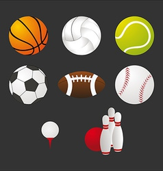 Sport equipment icons set vector image