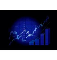 stock market graphs vector image
