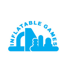 inflatable games logo emblem for water park vector image vector image
