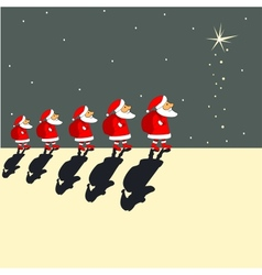 Santa Clauses vector image vector image