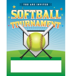 Softball Tournament Flyer vector image