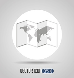 travel flat icon design vector image vector image