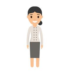 woman chef icon vector image