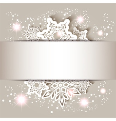 Christmas Star Snowflake Greeting Card vector image vector image