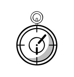 Figure chronometer to training play games vector