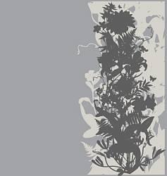 floral garden graphic frame vector image