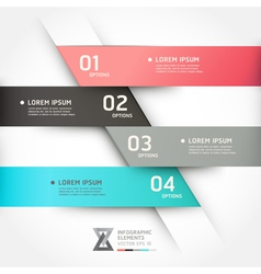 Modern origami style options banner vector image vector image