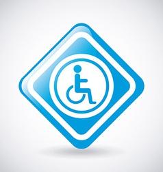 wheelchair design vector image vector image