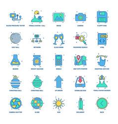 25 business concept mix flat color icon set vector image
