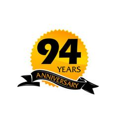 94 years ribbon anniversary vector image