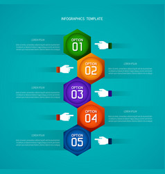Abstract timeline infographic template in flat vector