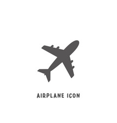 airplane icon simple flat style vector image