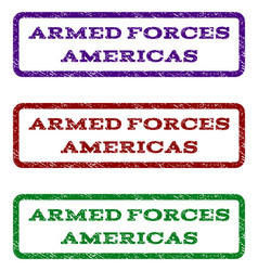 Armed forces americas watermark stamp vector