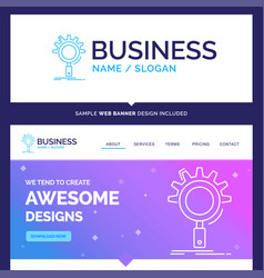 beautiful business concept brand name seo search vector image