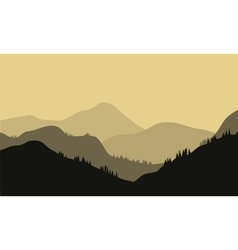 Beautiful Mountain And Sunset vector