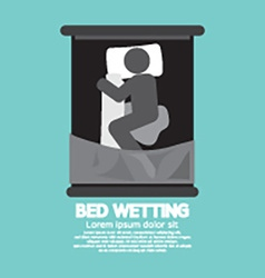 Bed-wetting black graphic symbol vector