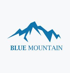 blue mountain logo vector image