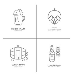 brewery logo collection vector image