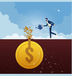 business concept for investment-money growth vector image