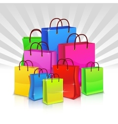 Color shopping bags Discount concept vector