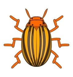Colorado potato beetle icon cartoon style vector