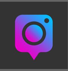 Colorful image icon photo digital camera vector