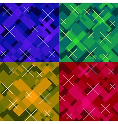 Colorful seamless cross pattern vector