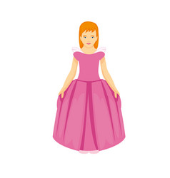 cute girl with pink dress vector image