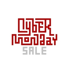 Cyber Monday Sale Lettering vector