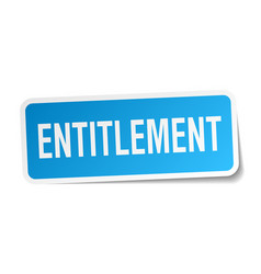 Entitlement square sticker on white vector