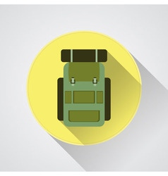 Flat modern set of three hiking backpacks Three vector