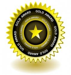 Gold award icon vector