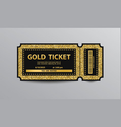 Golden ticket vector