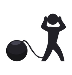 Guilty and jail icon Pictogram design vector