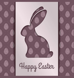 happy easter greeting card designv vector image
