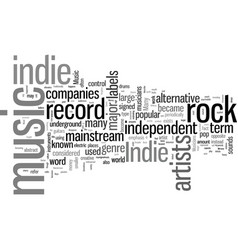 Indie music vector